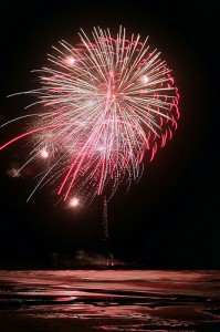 4th of July Fireworks Launched from the Bogue Inlet Pier